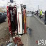 تصادف سرویس مدرسه در جاده شبستر +عكس