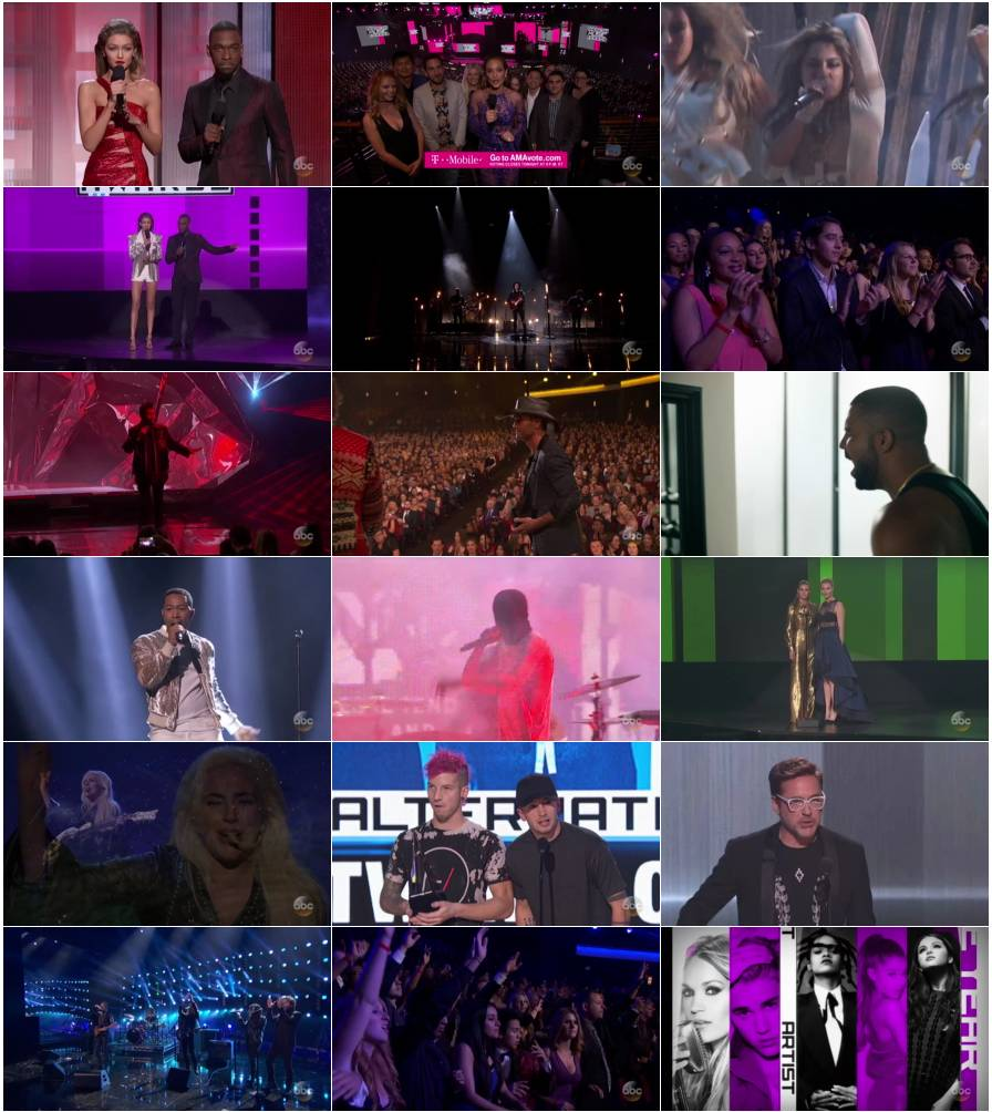 دانلود مراسم جدید The 44th Annual American Music Awards 2016