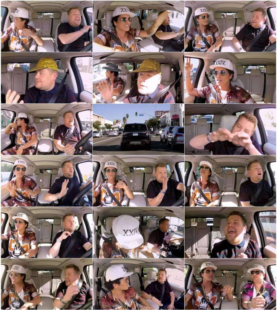 دانلود ویدئو حضور Bruno Mars در Carpool Karaoke