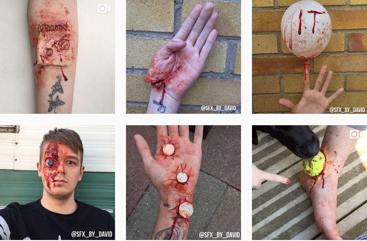 نگاهی به گریم های وحشتناک سینمایی که یک هنرمند روی بدن خود اعمال می کند