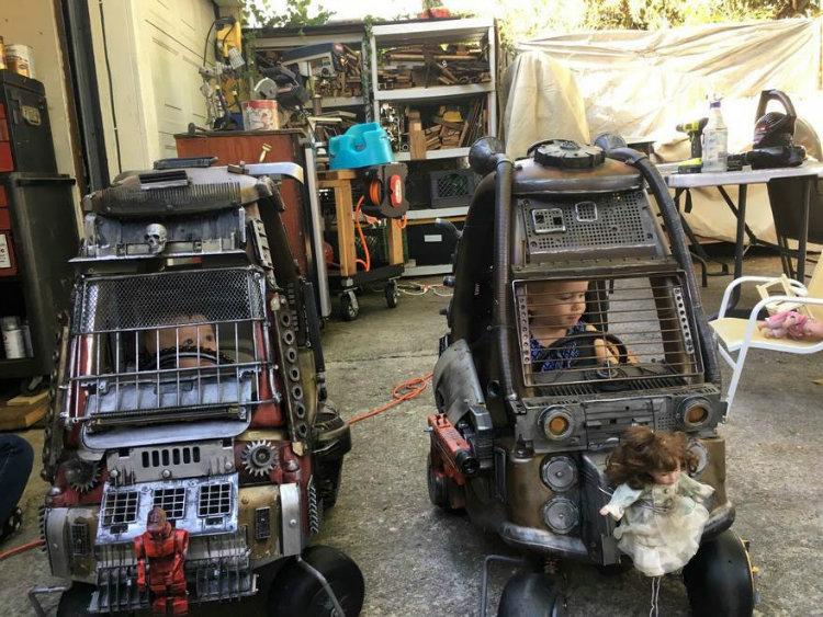 پدری که خودروهای اسباب بازی فرزندانش را به ماشین های فیلم «مکس دیوانه: جاده خشم» تبدیل کرده است