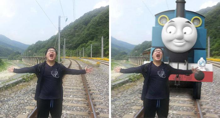 عکس هایی که توسط چند جوان بامزه کره ای طبق خواسته صاحبان دستکاری شده اند